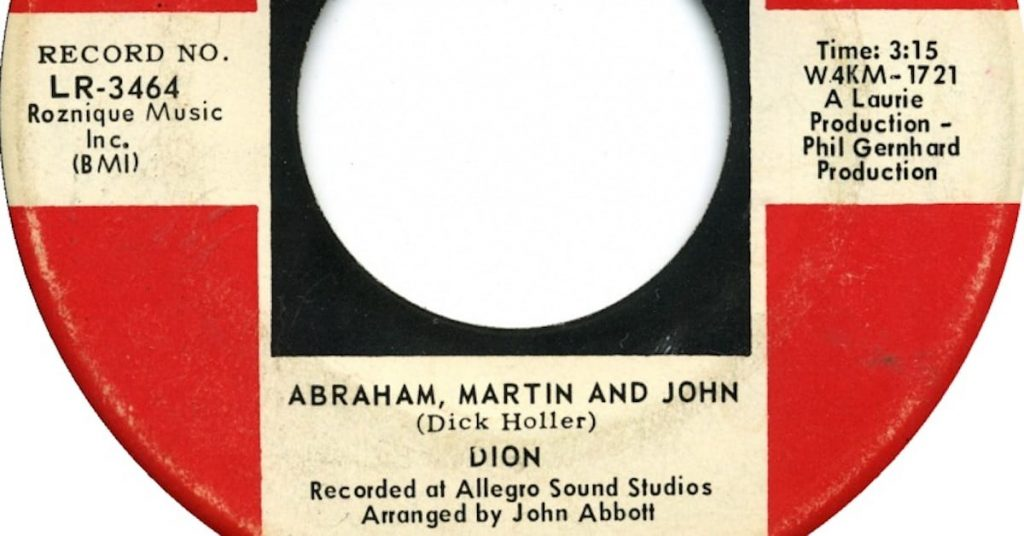 Abraham Martin and John by Dion