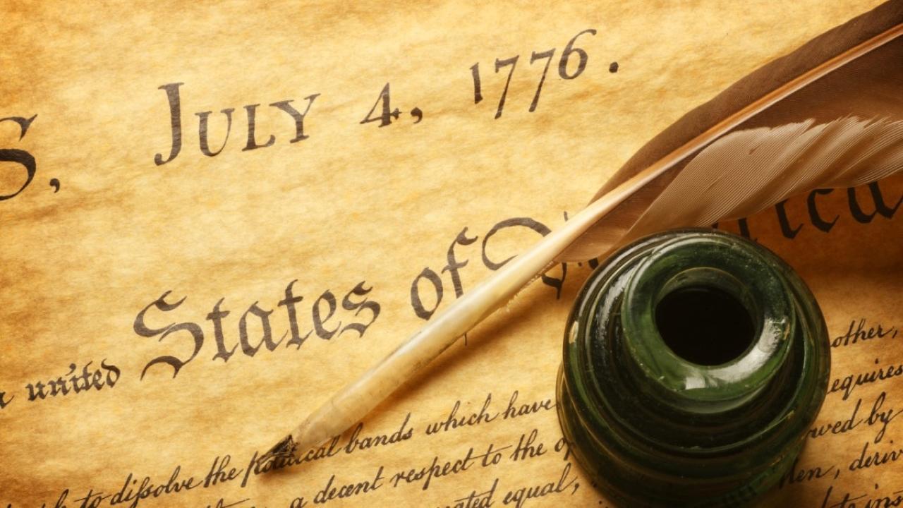 Declaration of Independence Header
