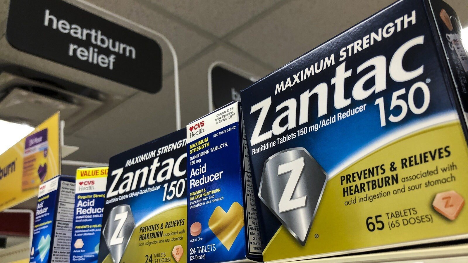 Zantac on shelves